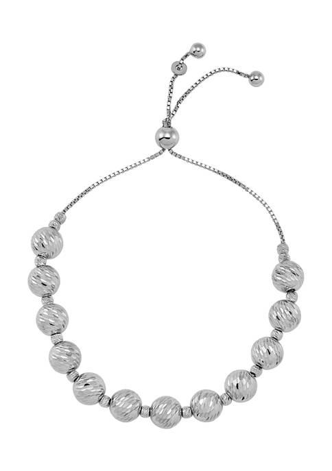 Belk & Co. Beaded Bolo Bracelet in Sterling