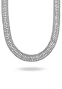 Sterling Silver X Collar Necklace