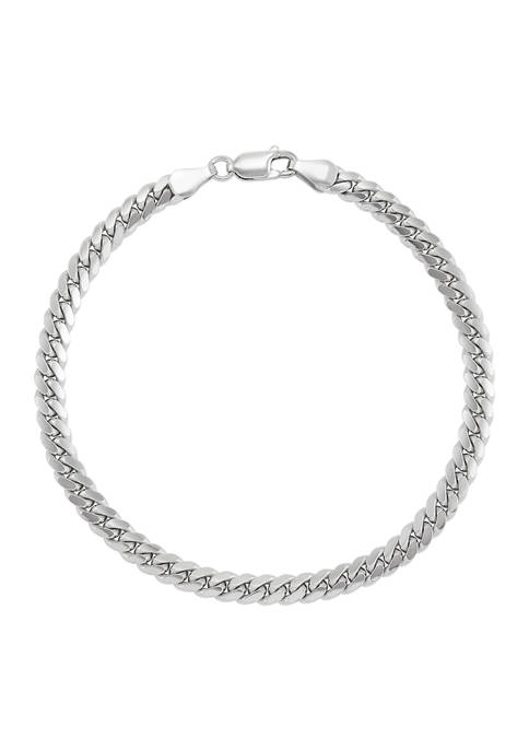 5.35 Millimeter Curb Chain Bracelet in Sterling Silver