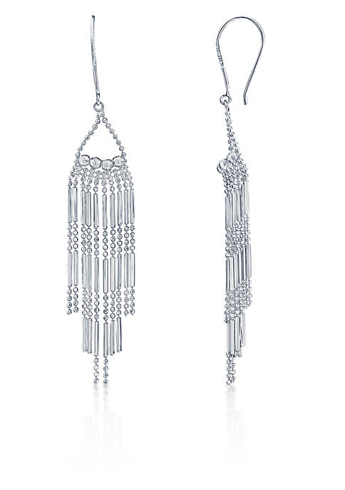 Belk & Co. Drop Bead Earrings in Sterling