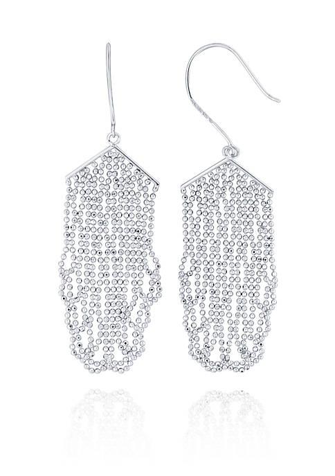 Belk & Co. Beaded Drop Earrings in Sterling