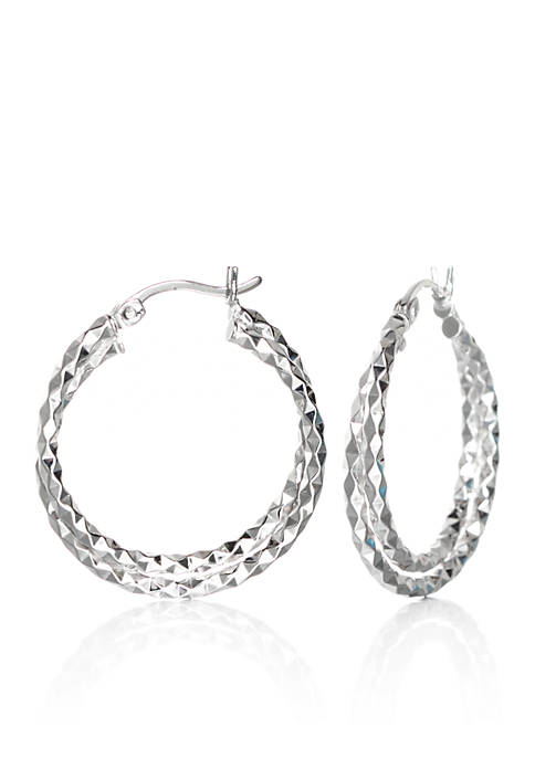 Belk & Co. Double Twist Hoop Earrings in