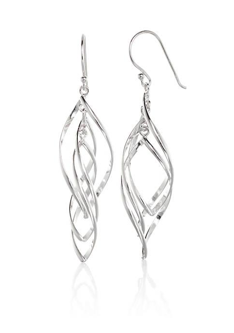 Belk & Co. Sterling Silver Marquise Drop Earrings
