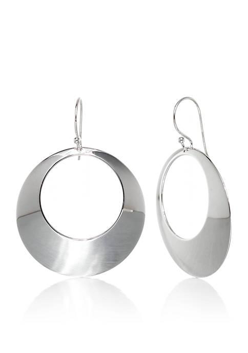 Belk & Co. Sterling Silver Dangle Circle Earrings