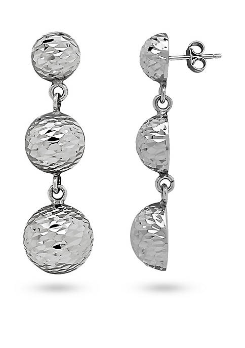 Belk & Co. Sterling Silver Triple Drop Earrings