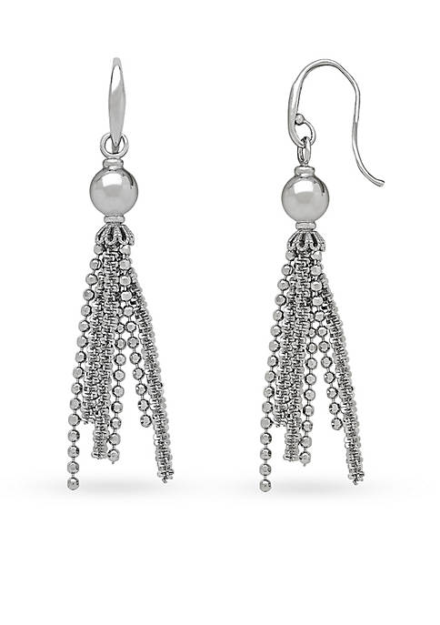 Belk & Co. Sterling Silver Tassel Drop Earrings