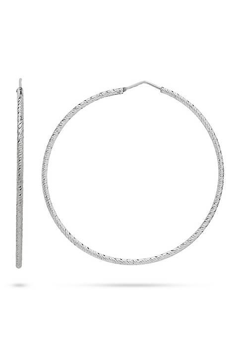 Belk & Co. Sterling Silver Twist Hoop Earrings