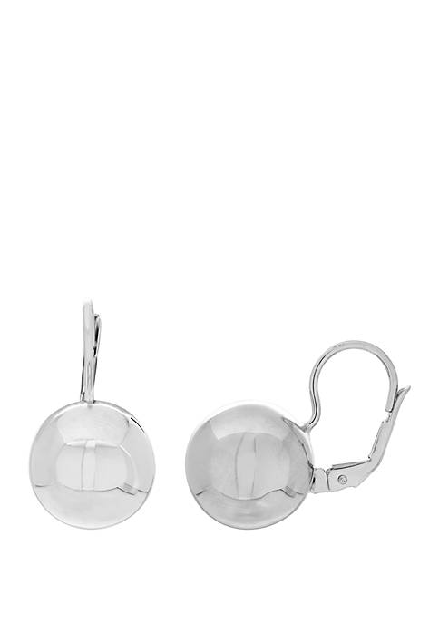 Belk & Co. Polished Round Bead Earrings In