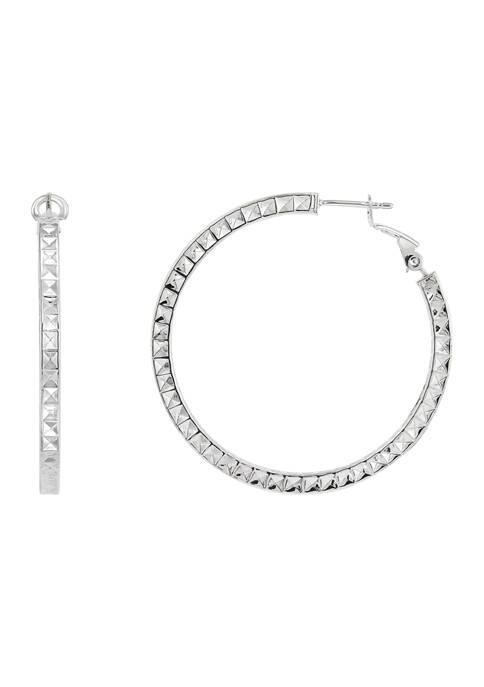 Belk & Co. 35 Millimeter Hollow Round Hoop