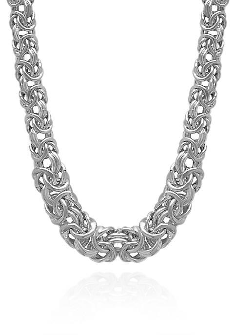Belk & Co. Sterling Silver Byzantine Links Necklace