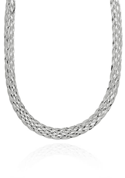Sterling Silver Woven Necklace