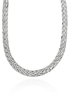 Belk & Co. Sterling Silver Woven Necklace