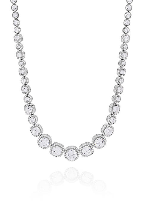 Belk & Co. Cubic Zirconia Necklace in Sterling