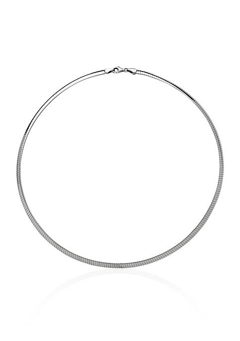 Sterling Silver 4-MM Avolto Omega Necklace
