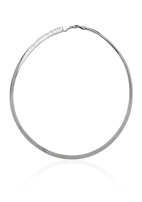 Sterling Silver 6-MM Avolto Omega Necklace