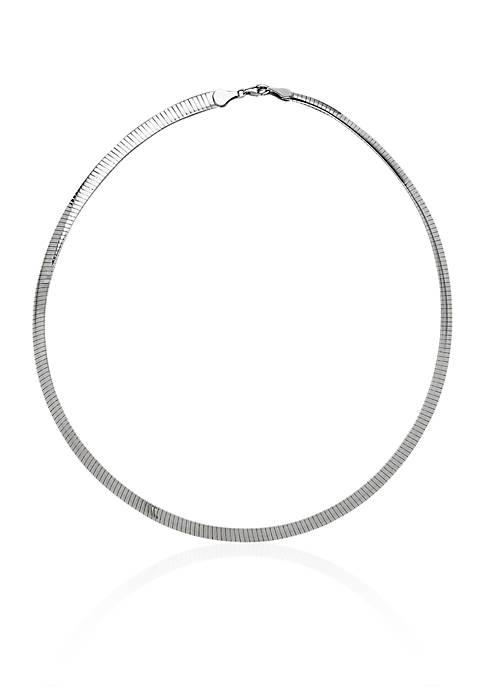 Belk & Co. Sterling Silver 6-MM Avolto Omega