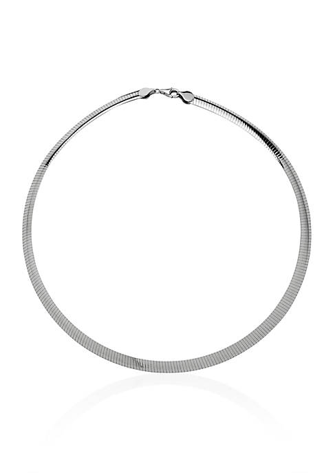 Sterling Silver 8 MM Avolto Omega Necklace
