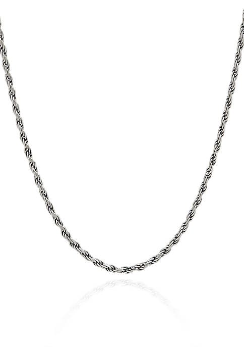 Sterling Silver Adjustable Rope Necklace
