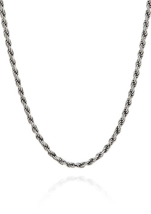Sterling Silver Adjustable Rope Necklace
