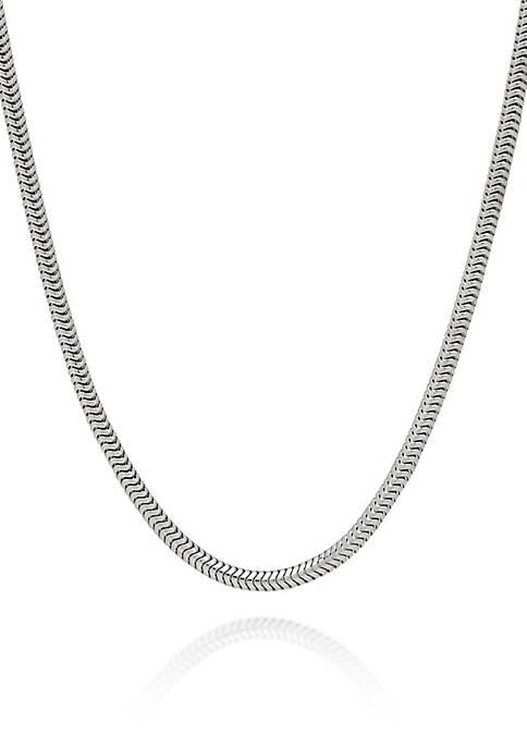 Belk & Co. Sterling Silver Adjustable Snake Chain