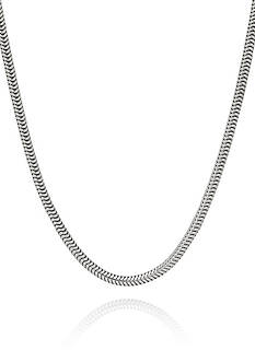 Belk & Co. Sterling Silver Adjustable Snake Chain Necklace