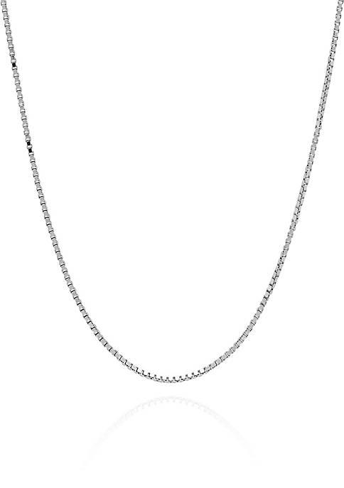 Sterling Silver Diamond Cut Box Chain Necklace