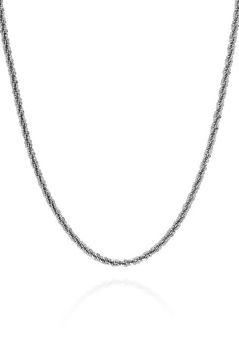 Belk & Co. Sterling Silver 025 Chain Necklace