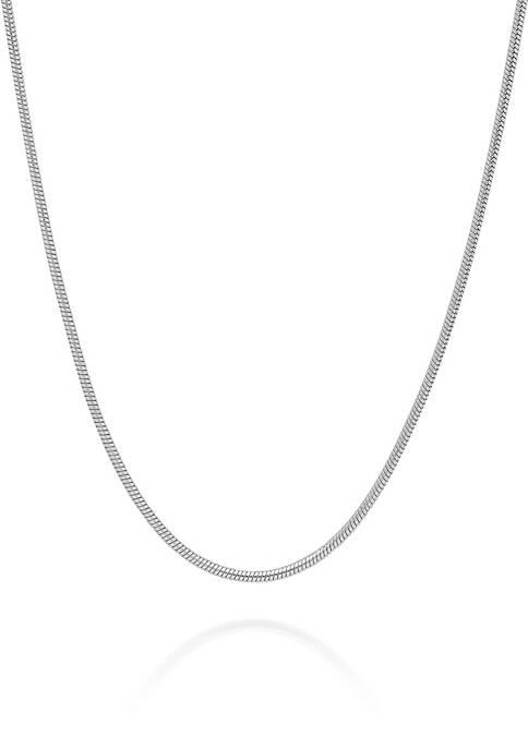 Belk & Co. Sterling Silver Snake Chain Necklace