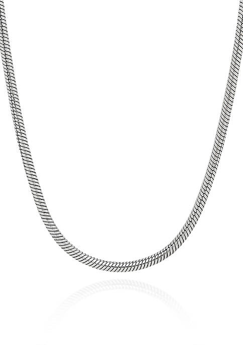 Sterling Silver Snake Roll Chain Necklace