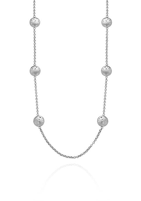Sterling Silver Tin Cup Station Necklace