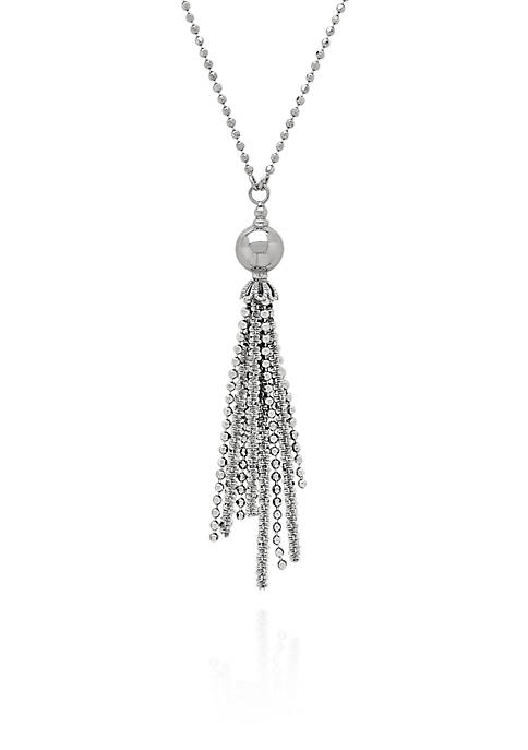 Belk & Co. Sterling Silver Tassel Necklace