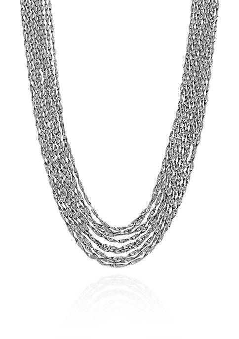 Sterling Silver Multi-Strand Twist Necklace