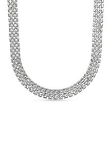 Sterling Silver Panther Collar Necklace