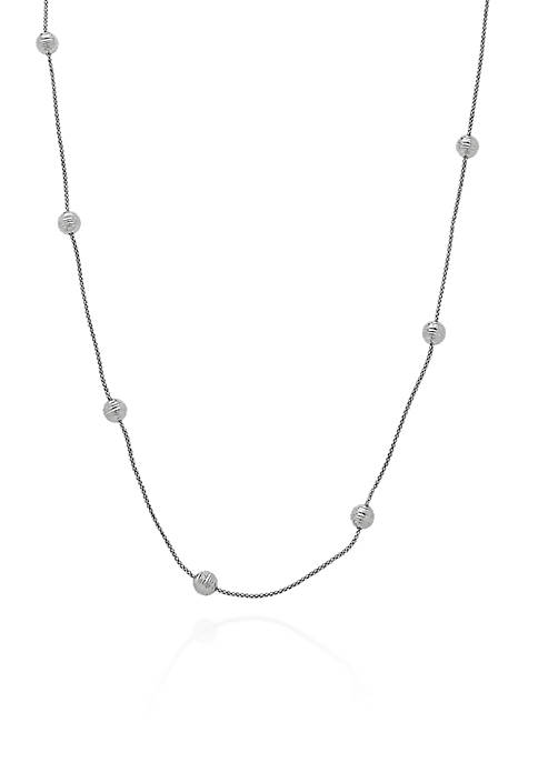 Belk & Co. Sterling Silver Multi Bead Necklace