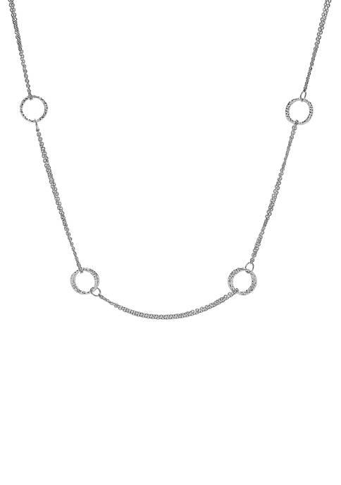 Belk & Co. Sterling Silver Diamond Cut Open