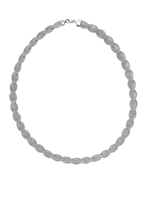 Strand Herbone Necklace in Sterling Silver