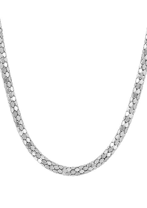 Polished 5 mm Chain Necklace In Sterling Silver