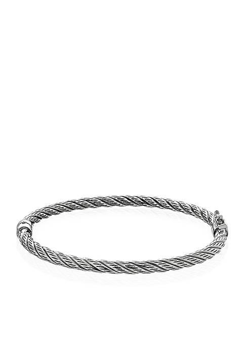 Sterling Silver Twist Bangle Bracelet