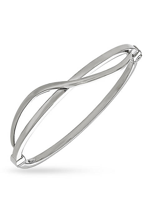 Belk & Co. Sterling Silver Crossover Bangle Bracelet