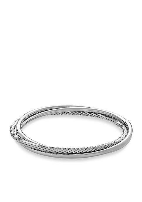 Sterling Silver Triple Twist Bangle Bracelet
