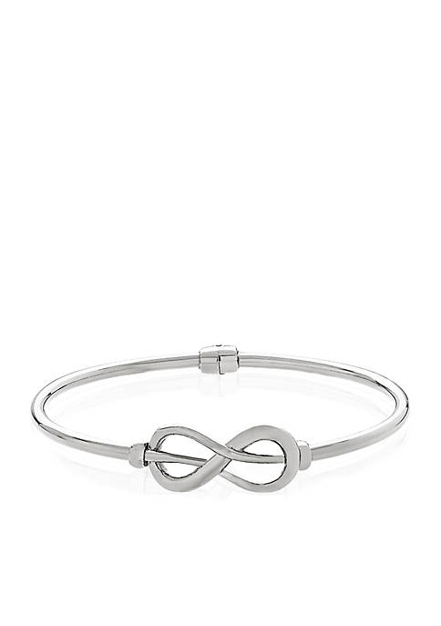 Belk & Co. Sterling Silver Infinity Bangle Bracelet