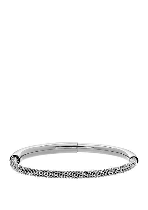 Belk & Co. Sterling Silver Curved Bar Bracelet