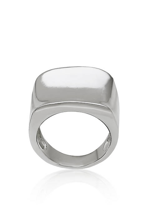 Belk & Co. Sterling Silver Concave Square Ring