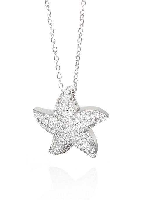 Belk & Co. Cubic Zirconia Starfish Pendant Necklace