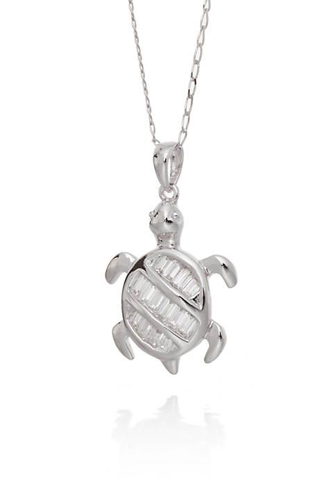 Belk & Co. Cubic Zirconia Turtle Pendant Necklace
