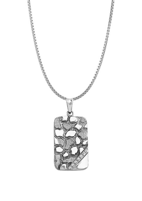 Belk & Co. Nugget Dog Tag Chain Necklace