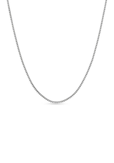Belk & Co. Sterling Silver Box Chain Necklace