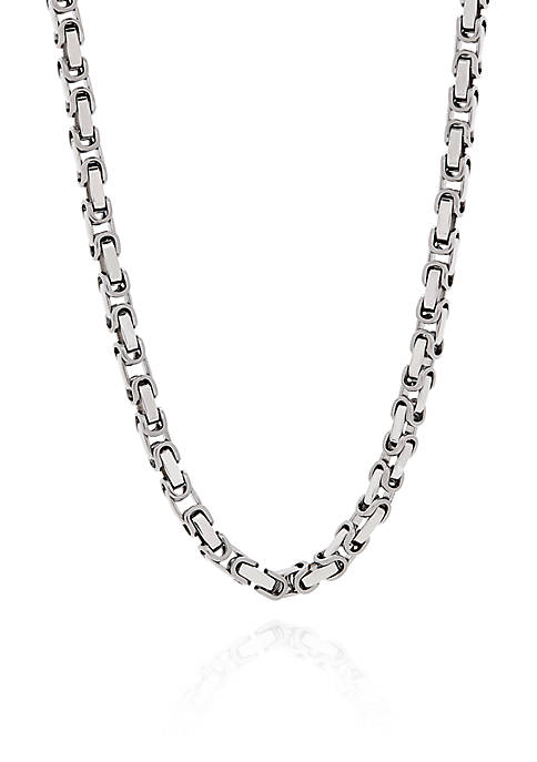 Rectangle Link Necklace in Stainless Steel