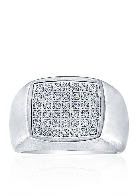 Belk & Co. Polished Square Cubic Zirconia Ring