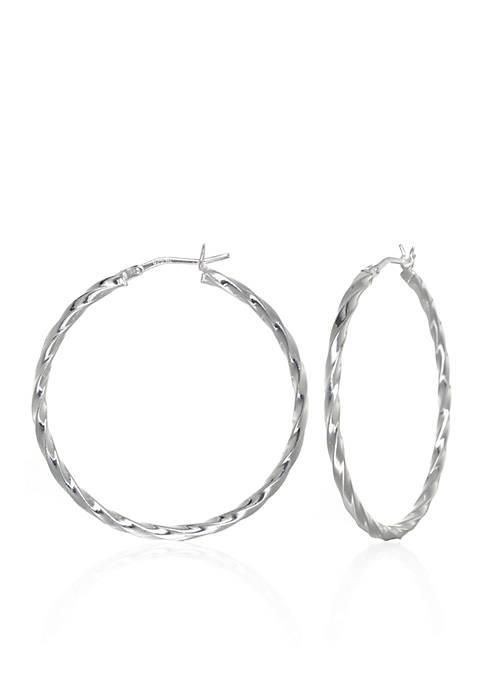 Belk & Co. Square Twist Hoop Earrings in